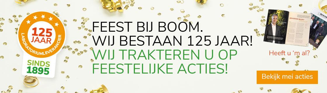 Boom 125 jaar acties mei