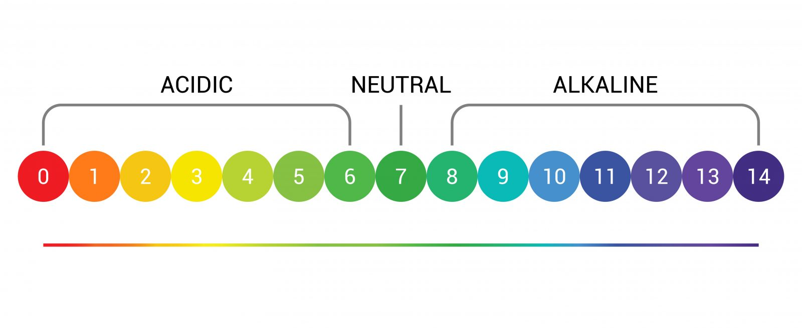 pH scale indicator chart diagram acidic alkaline measure. pH analysis vector chemical scale value test