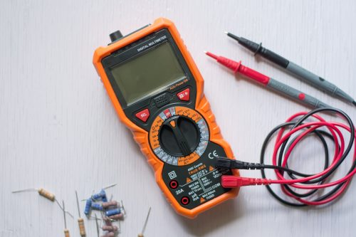 A multi meter or a multi-tester is an electronic measuring instrument. A typical multi meter can measure voltage, current, and resistance.
