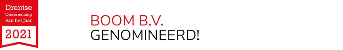 Boom genomineer voor Drentse onderneming van het jaar 2021